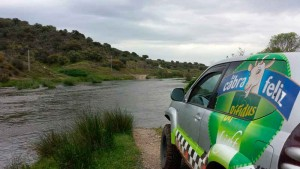 Un vehículo quesero cruzó todo Portugal
